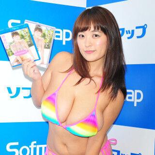 Iカップ柳瀬早紀「おっぱいのシルエットが最高!」と最新作をアピール