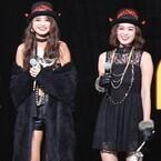 石田ニコル&筧美和子、セクシーハロウィン仮装で美脚披露