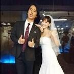 桐谷健太&倉科カナのウエディング2ショットに「やっぱ素敵カップル」と反響