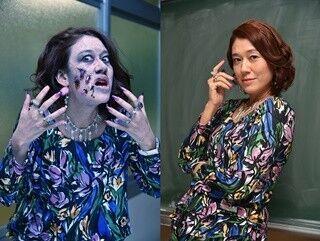 LiLiCo、ゾンビ役にノリノリ - 特殊メイクを「もっと強烈にして!」と指示