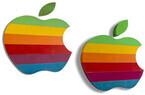 Apple本社のレインボーロゴ看板がオークションに、推定価値は1万ドル以上