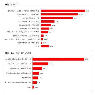 アニメの憧れカップルランキング1位は江戸川コナン・毛利蘭 -憧れないのは?