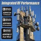 ADI、マルチバンド基地局/マイクロ波P2P無線向けRFIC製品群を発表