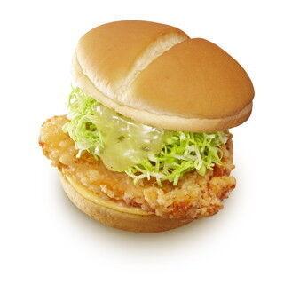 ネギ塩ダレで味付け「ねぎ塩チキンバーガー」 – ロッテリア