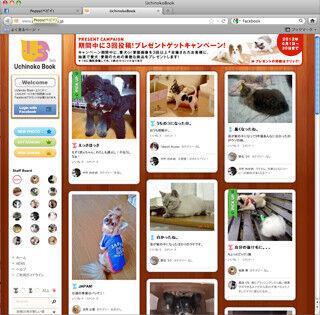 わんちゃん・猫ちゃんのお気に入り画像を共有! 「Uchinoko Book」