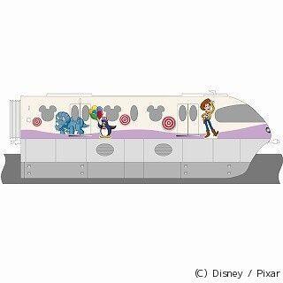 ディズニーリゾートラインに「トイ・ストーリー・マニア!」ラッピング列車
