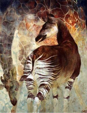 動物園の動物が絵画に。「動物日本画・鋳金作品展」を開催 -上野動物園