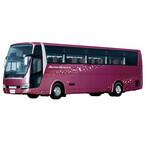 三菱ふそう、『母と子の楽ラク運転講習会』に大型観光バスなどを出展