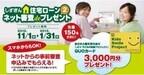 静岡銀行、ネットからの住宅ローン事前審査申し込みで3000円分のQUOカード