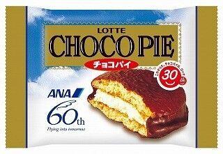 ロッテ、ソウル行きANA便搭乗者に、オリジナルパッケージのチョコパイ配布