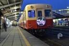 千葉県、小湊鐵道の列車と駅舎がイルミネーションで彩られて運行!