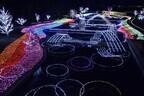 長野県安曇野市「アルプスあづみの公園」でクリスマスイルミネーション