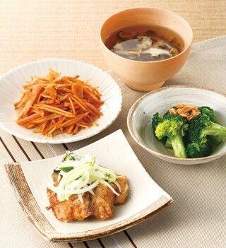 タニタが、タニタ社員食堂のメニューを家庭で作れる食材セットを通販開始
