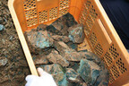 島根県の花仙山から、50年ぶりに採掘された「めのう」の勾玉を販売