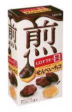 岩塚製菓とロッテが共同開発。国産米を使用した「せんべいチョコ」発売