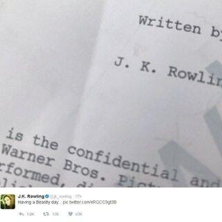 J.K.ローリング『ファンタビ』続編の脚本を執筆中? ツイッター投稿が話題