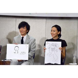 """田辺誠一&木村佳乃、夫婦役で揃って""""画伯""""? ゆるイラストに「間がいい」"""