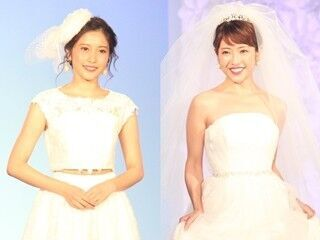 佐野ひなこ・舟山久美子ら、美デコルテ輝くウエディングドレス姿で魅了