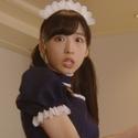 AKB福岡聖菜ら白T&ショーパン姿でCM出演! 小栗はウェイトレスで驚き顔
