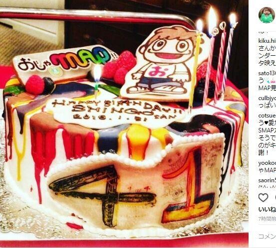 香取慎吾『おじゃMAP!!』現場で誕生祝い - SMAPカラーのローソクが話題