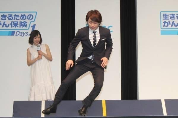 """嵐・櫻井翔、健康年齢""""28歳""""に小さくガッツポーズ! 反復横跳びで大健闘"""