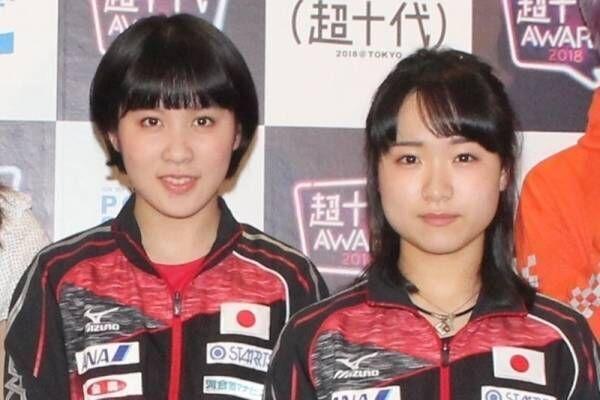 卓球の平野美宇&伊藤美誠、表彰式のためにメイクアップ「新鮮でうれしい」