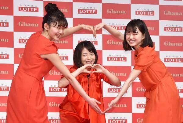 浜辺美波&山田杏奈&久間田琳加、ガーナ新CMキャラクターに就任