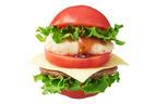 モスバーガー、トマト丸ごと使用の「とま実バーガー」を発売