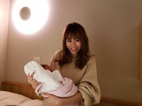 モデルの尾崎紗代子、第2子女児出産「今のところ旦那にそっくり」