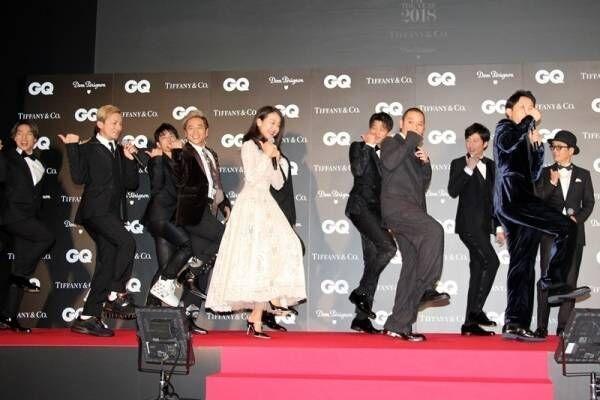 竹内涼真&田中圭もU.S.A.ダンス!「GQ MEN OF THE YEAR」授賞式でISSA指導
