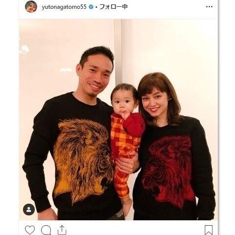 平愛梨が第2子妊娠! 夫・長友佑都が家族3ショット添えて報告