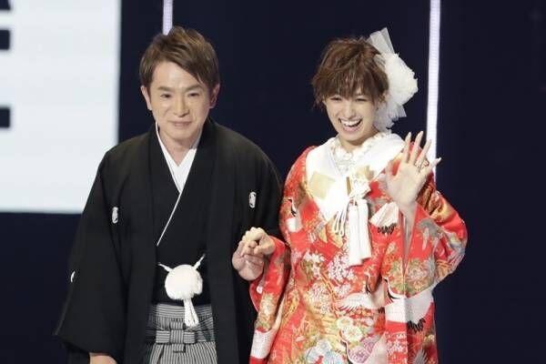 濱口優&南明奈、和装姿で結婚後初2ショット「アッキーナ、とったどー!」