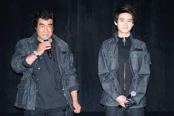 藤岡弘、イケメン息子・真威人とイベント初共演「私のほうが緊張している」