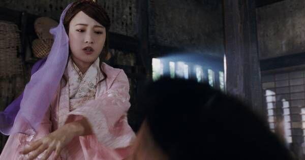 久々登場の川栄織姫、金太郎に強烈ビンタ 3カ月ぶり実写三太郎CM