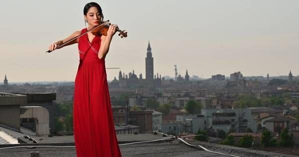 イタリアの病院屋上で感動の演奏…バイオリニスト・横山令奈が来日公演