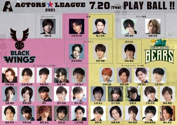 黒羽麻璃央発案・プロデュースで、東京ドーム野球対決! 豪華俳優37名が集結