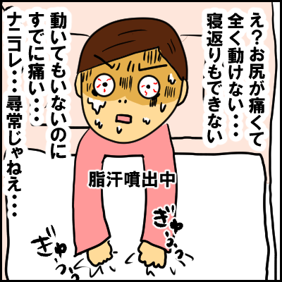 出産時こわかったもの…それは陣痛ではなく「痔」の痛みだった…!の画像