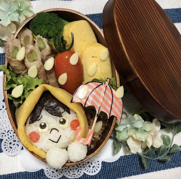 傘にてるてる坊主…雨の日が楽しくなる「雨モチーフのお弁当」大集合!の画像