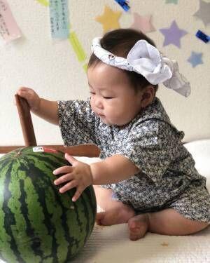 お祭りに花火!夏イベントを盛り上げる甚平&浴衣コーデの画像