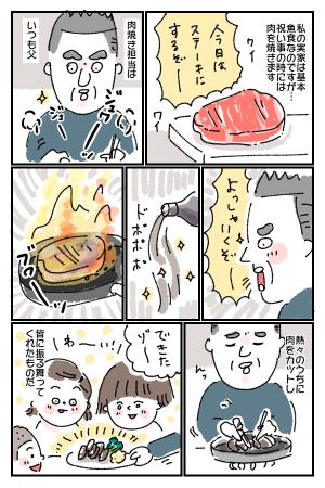 特別な日に焼くステーキのこと。父の料理で、みんなが笑顔でいた思い出。の画像