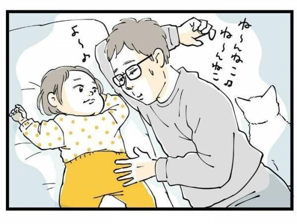 パパに寝かしつけを任せたら、失敗!でも怒れない、超キュートな理由の画像