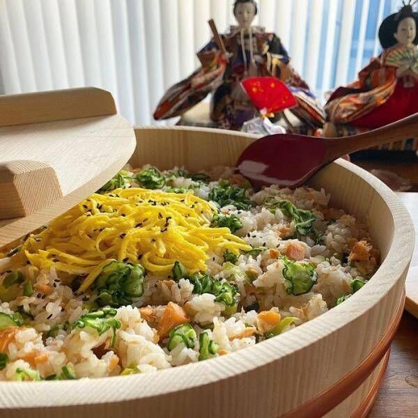 今日はひな祭り~!準備ゼロでもまだ間に合う!?家にあるモノでちらし寿司♡の画像