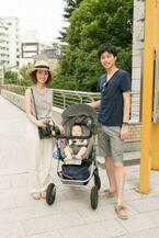 【family snap!】ハイシートのベビーカーは、お散歩&外食時にも安心♡ 家族揃って休日代官山ランチ♪