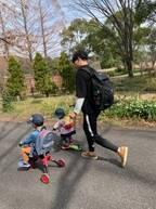 《念願の3人目妊娠♡》年が近い兄妹、子どもたちの反応は…? パパとの作戦会議!