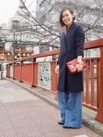 【おしゃれびとスナップ#32】華やかなスカーフを、さらっと足していまっぽく
