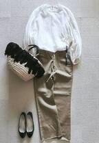 FRAMeWORKのワザあり白ブラウスが主役。エアリーな大人カジュアルスタイル