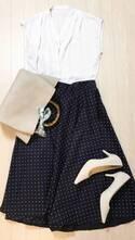 UNIQLOのサーキュラースカートが優秀。ボリューム感が細見えを叶えます