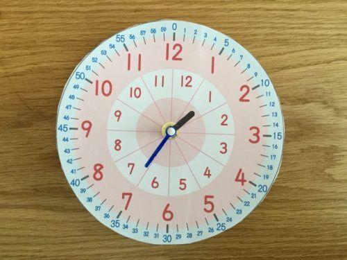 子どもに時計を正確に読ませたい!超アナログ時計を手作りしてみた