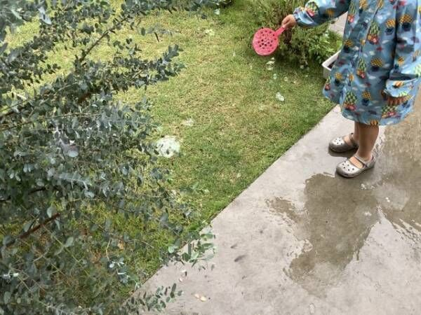 ️雨の日こそシャボン玉!割れにくいから楽しめる