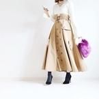 東京365日コーデ #ハンサムスカートで向かうは中目黒の蔦屋書店